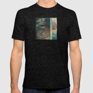 Across The Pond Mens Fitted Tee Tri-Black SMALL