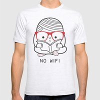 No wifi Mens Fitted Tee Ash Grey SMALL