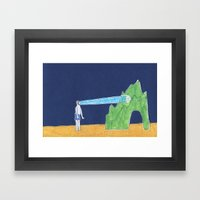 He Has A LED Lamp Instea… Framed Art Print