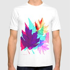 Maple Leaves Falling Mens Fitted Tee White SMALL