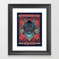 Hunting Club: Abyssal Lagiacrus Framed Art Print