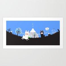 Run alpaca, run! Art Print