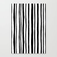 Into the Woods Stripes black Canvas Print