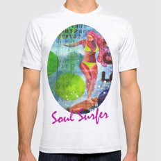 Soul Surfer I Mens Fitted Tee Ash Grey SMALL