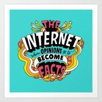 The Internet. Art Print