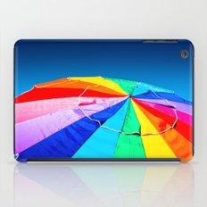 Rainbow Beach Umbrella iPad Case
