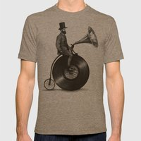 Music Man Mens Fitted Tee Tri-Coffee SMALL