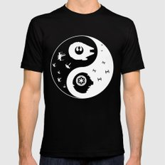 Star War Ying And Yang Mens Fitted Tee Black SMALL
