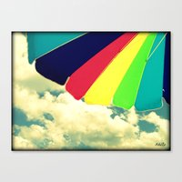Under My Umbrella Canvas Print