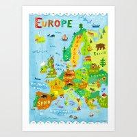 Map of Europe Art Print