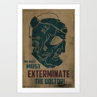 Davros - We Must Extermi… Art Print