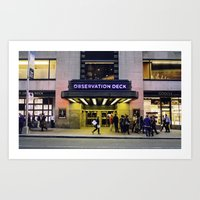 Observation Deck. Art Print