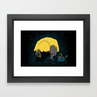 Fisher Fish Framed Art Print