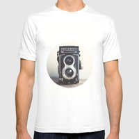 ROLLEIFLEX CAMERA Mens Fitted Tee White SMALL