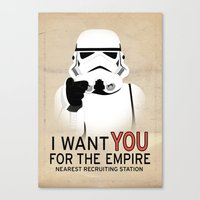 Stormtrooper I want YOU  Canvas Print
