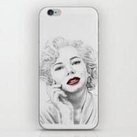 Michelle Williams as Marilyn iPhone & iPod Skin
