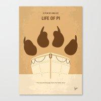 No173 My Life of PI minimal movie poster Canvas Print