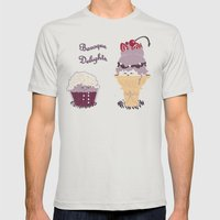 Baroque Delights Mens Fitted Tee Silver SMALL