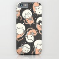 iPhone & iPod Case featuring Cat-Stronauts by Drew Brockington