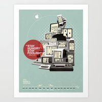 Art Print featuring The Apple Story by Viet Huynh
