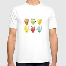 Owl Fun SMALL Mens Fitted Tee White