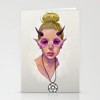 Monster Girl #3 Stationery Cards