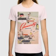 Community Womens Fitted Tee Light Pink SMALL