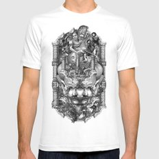 Reredos Mens Fitted Tee White SMALL