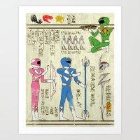 Hero-Glyphics: Power Art Print