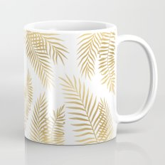 Gold palm leaves Mug
