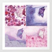 4 Butterflies Art Print