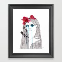 Painted Eyes Framed Art Print