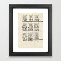 View from the balcony Framed Art Print