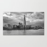 Storm Clouds Over Shard London Canvas Print