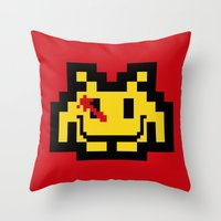 Who Watches The Invaders… Throw Pillow