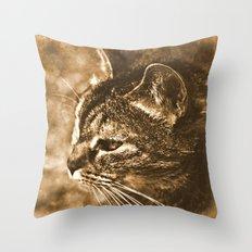 Dreamy cat Throw Pillow