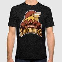 Tatooine SandCrawlers - … Mens Fitted Tee Tri-Black SMALL