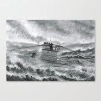 High Seas U-Boat Canvas Print