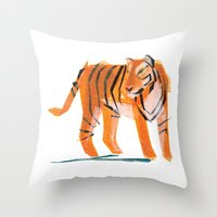 Jack Tiger Throw Pillow