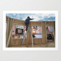 Indoor/Outdoor Carpentering Art Print