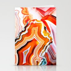 The Vivid Imagination of Nature, Layers of Agate Stationery Cards