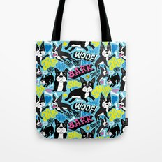 Boston Terrier Pattern Tote Bag