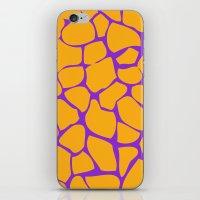Neon Giraffe iPhone & iPod Skin