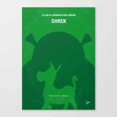 No280 My SHREK minimal movie poster Canvas Print