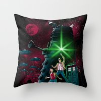 Time Wars Throw Pillow