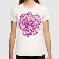 8BIT Flower Womens Fitted Tee Natural SMALL