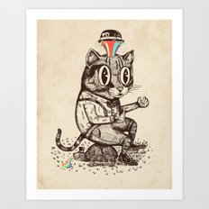 Strange Cat Art Print