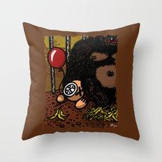 La cage du gorille Throw Pillow