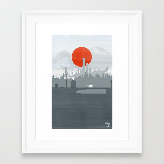 Avatar - Air Book Framed Art Print
