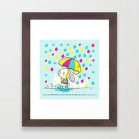 Rain Rabbit Ezekiel 34:2… Framed Art Print